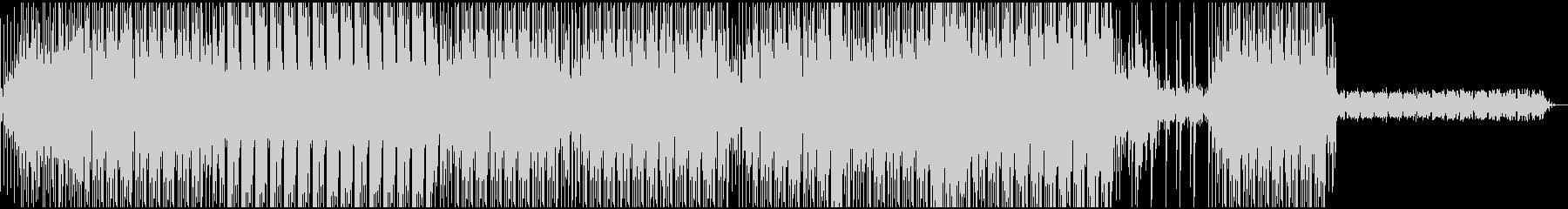 鈍く重たい感じのテクノサウンドEDMの未再生の波形