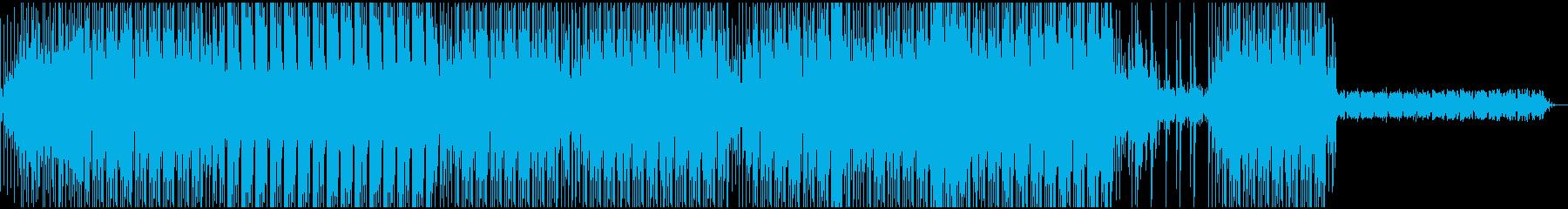 鈍く重たい感じのテクノサウンドEDMの再生済みの波形