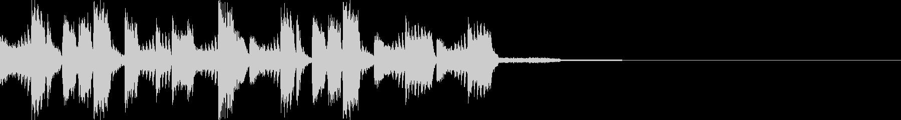 印象的なキャッチーEDMジングルの未再生の波形