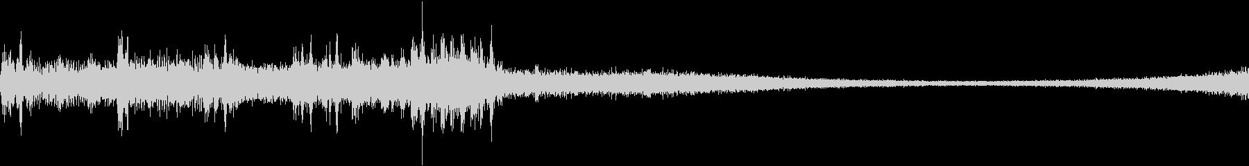 ドラッグの未再生の波形