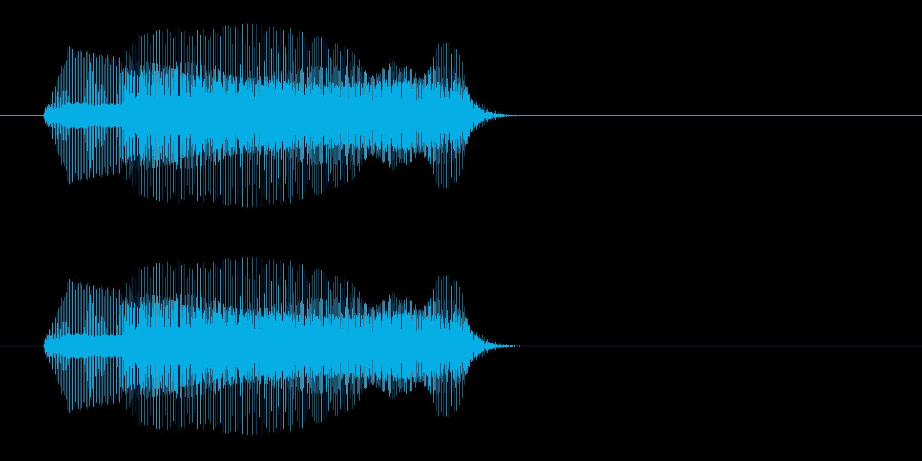 チューッ(小動物の鳴き声に似た効果音)の再生済みの波形
