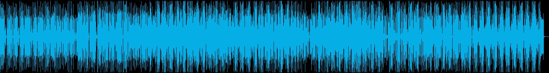 バラエティ動画向け軽快でコミカルなBGMの再生済みの波形