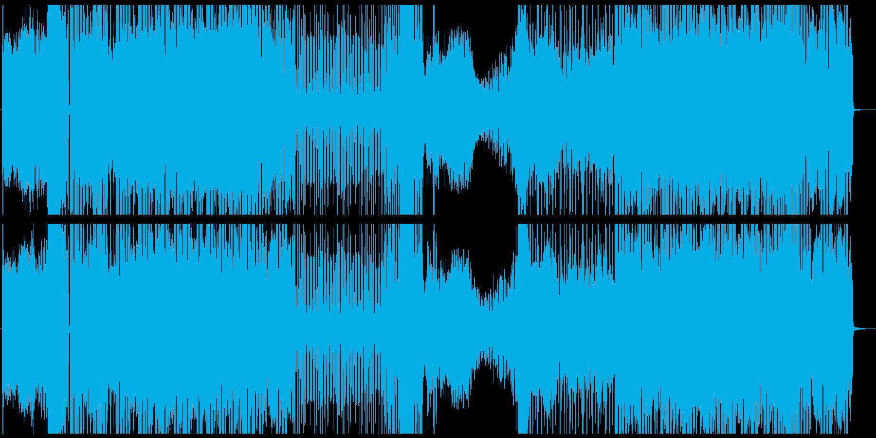 ノイジーでミステリアスなアンビエントの再生済みの波形