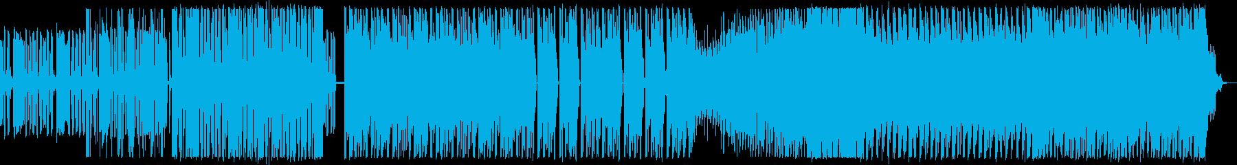 シンセサイザーが中心の攻撃的なEDMの再生済みの波形