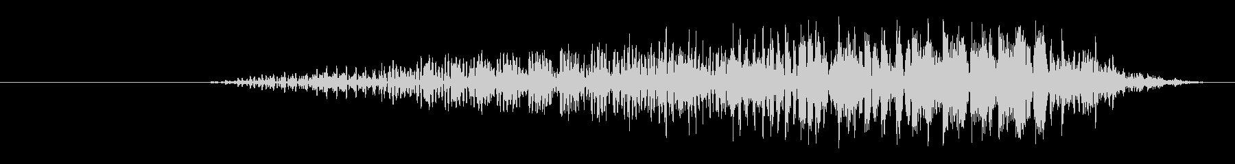大クリーチャー:短いRo音のうなり声の未再生の波形