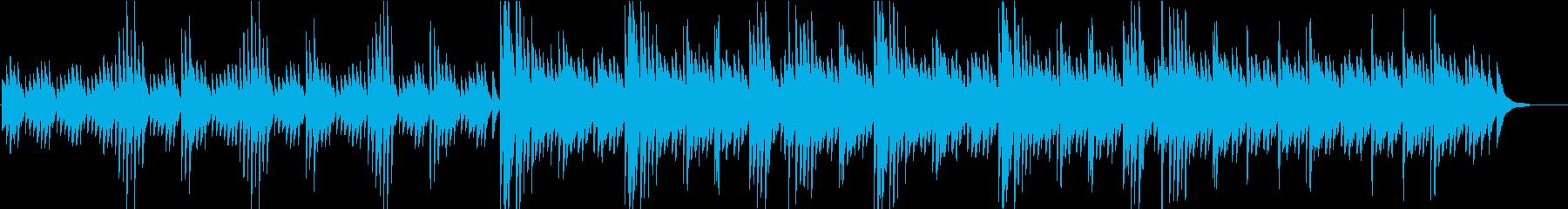 「澄んだ映像向き」ゆるやかなピアノの再生済みの波形