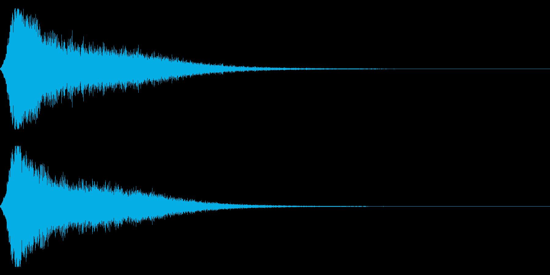 シャキーン キラーン☆強烈な輝きに!9vの再生済みの波形