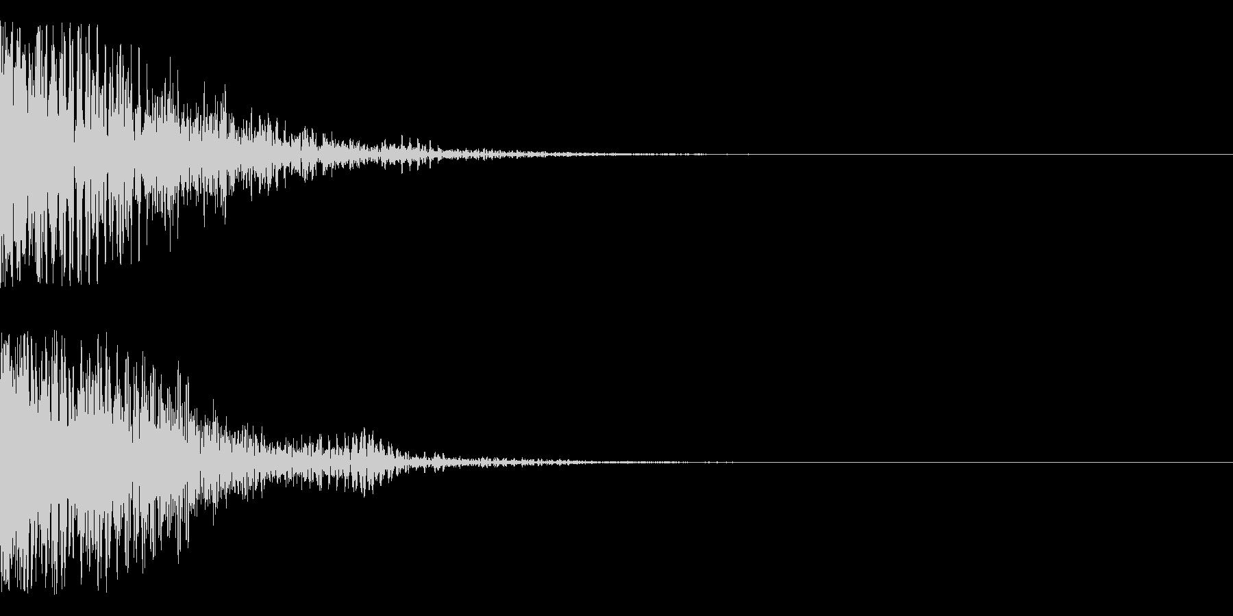 ドグワァ~ン(発射、爆発系)の未再生の波形