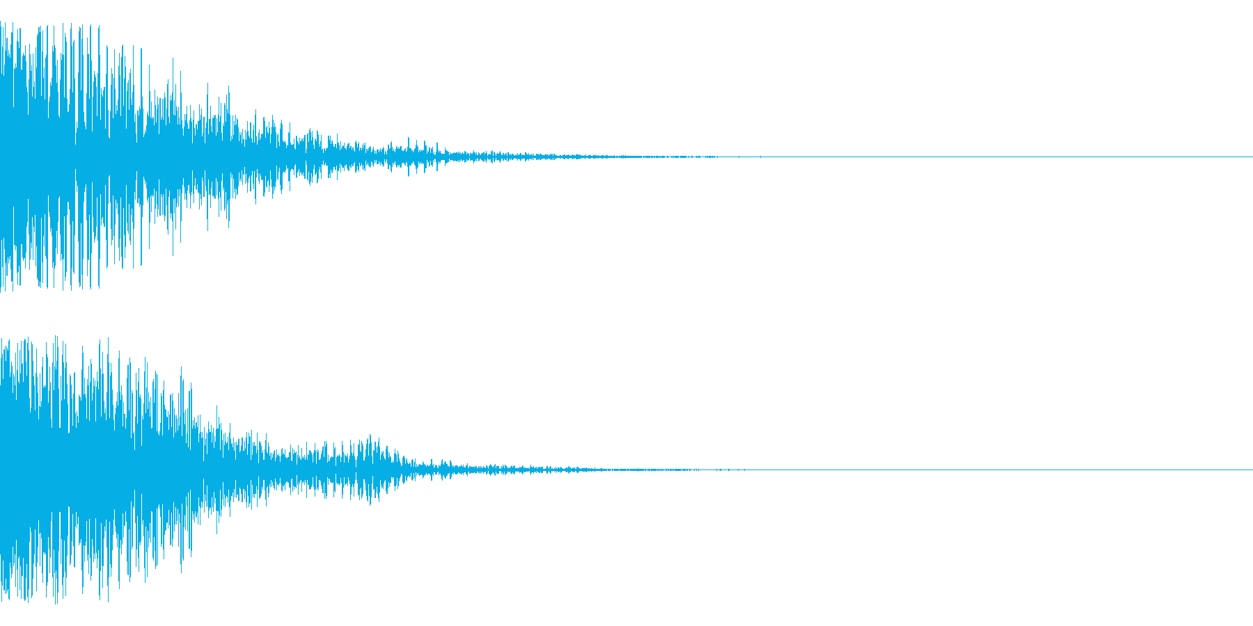 ドグワァ~ン(発射、爆発系)の再生済みの波形