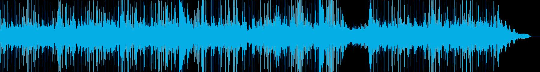 ピアノが響く現代的・都会的なサスペンス曲の再生済みの波形