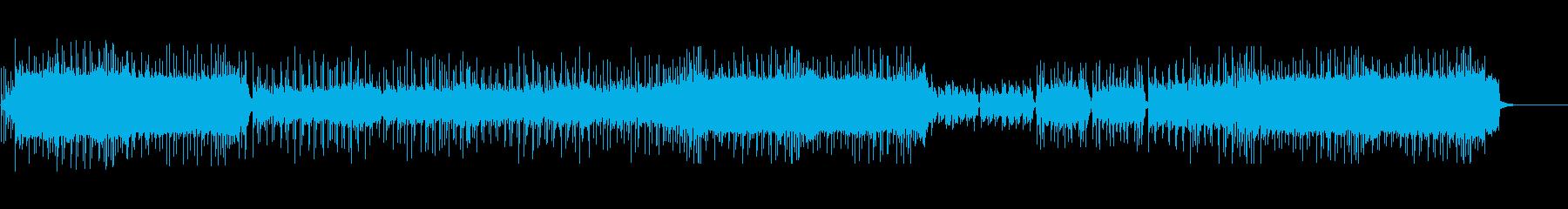エモーショナルなギターロックの再生済みの波形