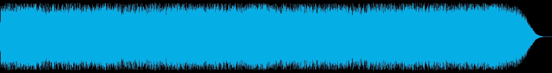 ファンタジー系ゲームボスバトル曲の再生済みの波形