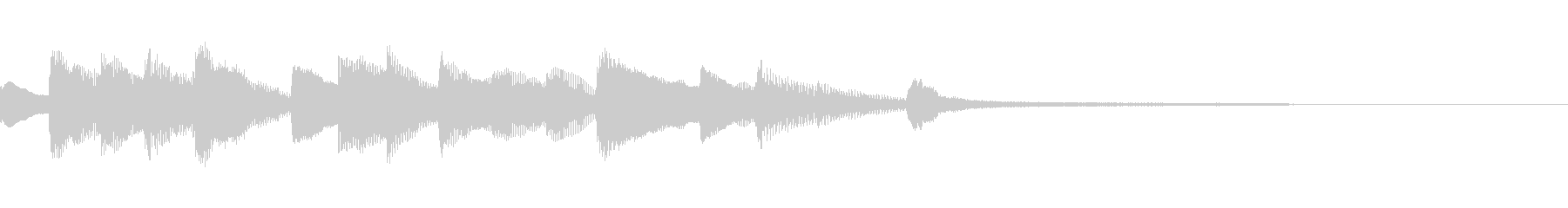 おしゃれできれいなピアノのジングル21の未再生の波形