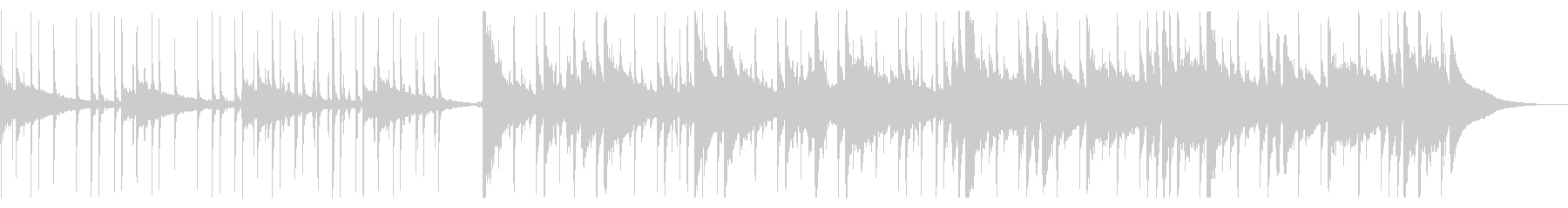 冬を感じるチルBGM_3の未再生の波形