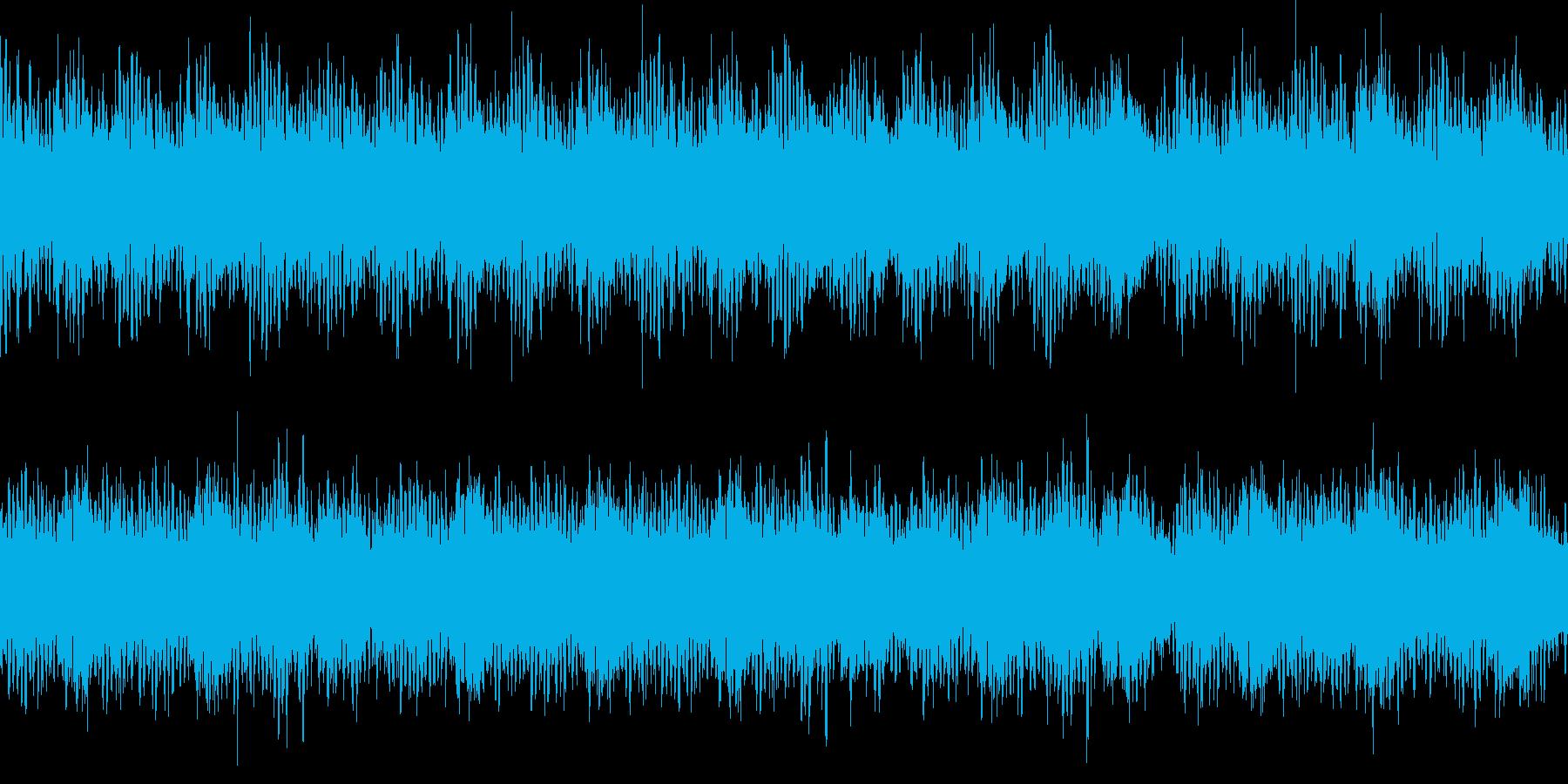 透明感のあるキラキラとしたループ音源の再生済みの波形