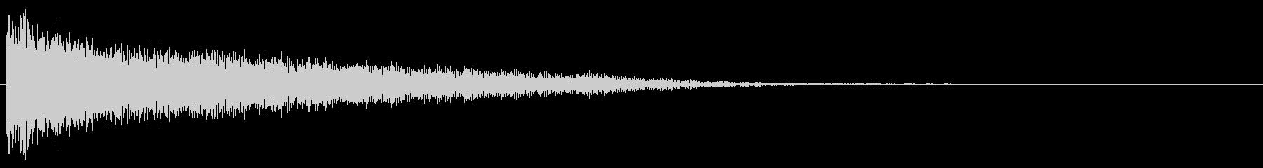 爽やかなワープ音、転送音の未再生の波形