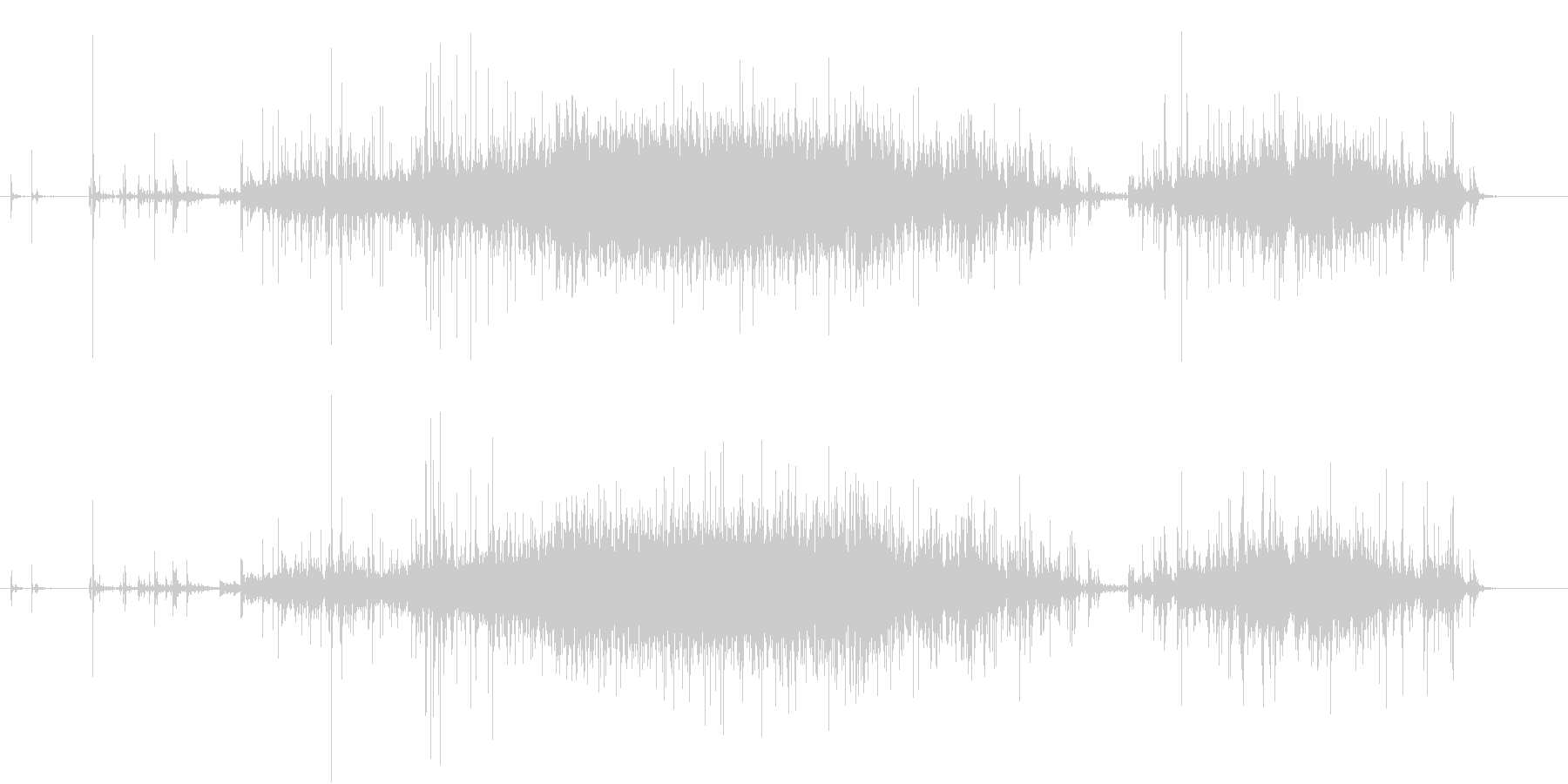 【生録音】米粒(生米)を取り出す音 2の未再生の波形