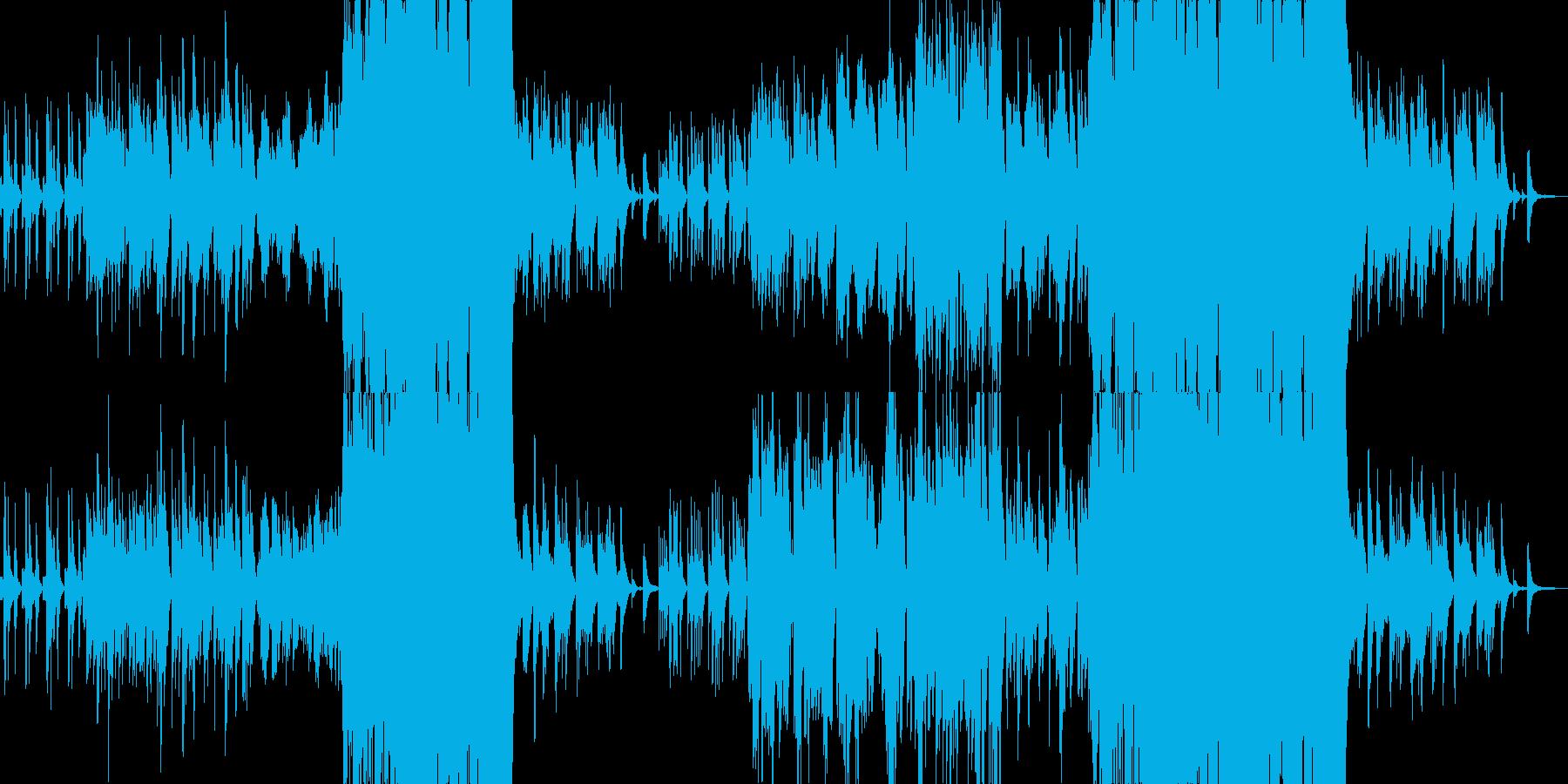 のどかで牧歌的ほのぼのオーケストラワルツの再生済みの波形