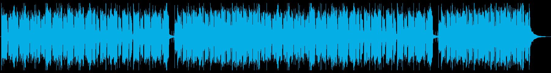レシピ動画のBGMをイメージしたインストの再生済みの波形