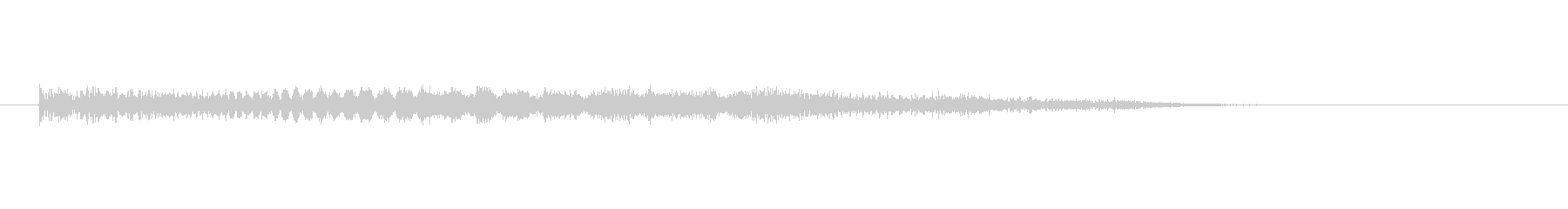 不気味な効果音の未再生の波形