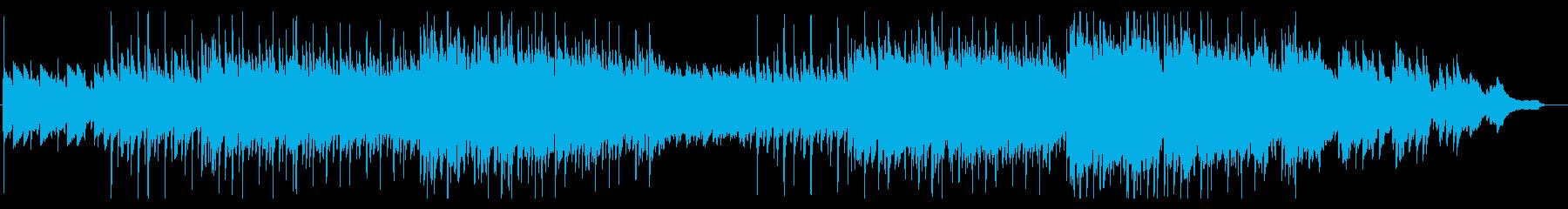 【秋】落ち葉の中の演奏家の周りで流れる曲の再生済みの波形