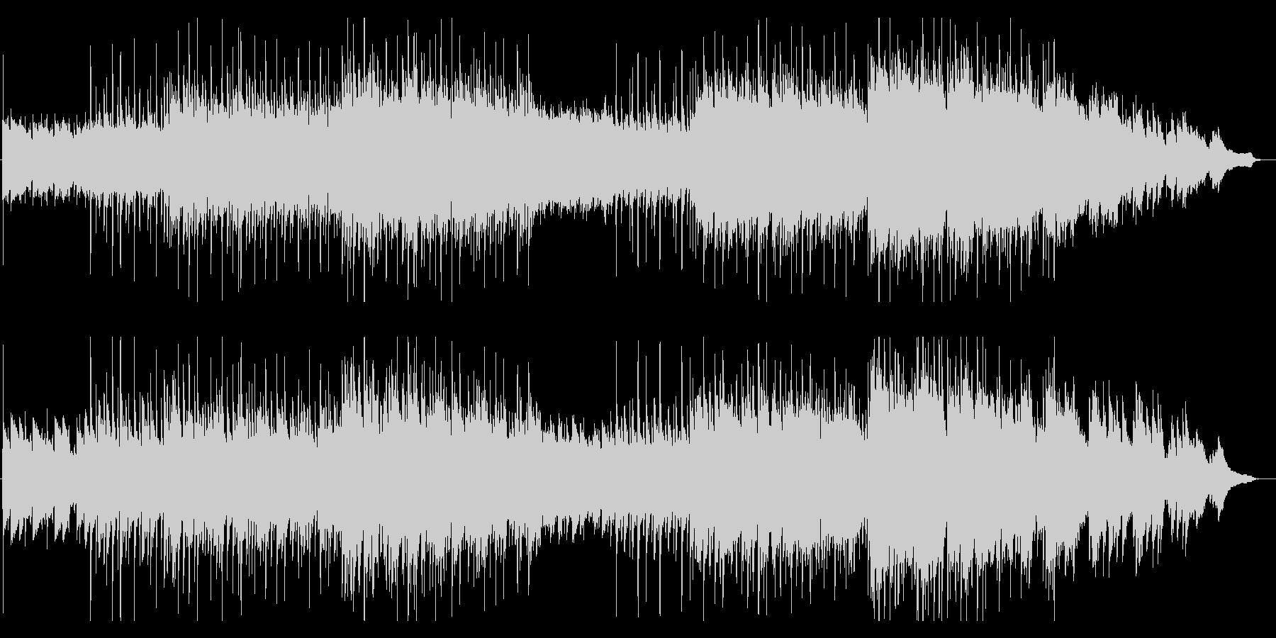 【秋】落ち葉の中の演奏家の周りで流れる曲の未再生の波形