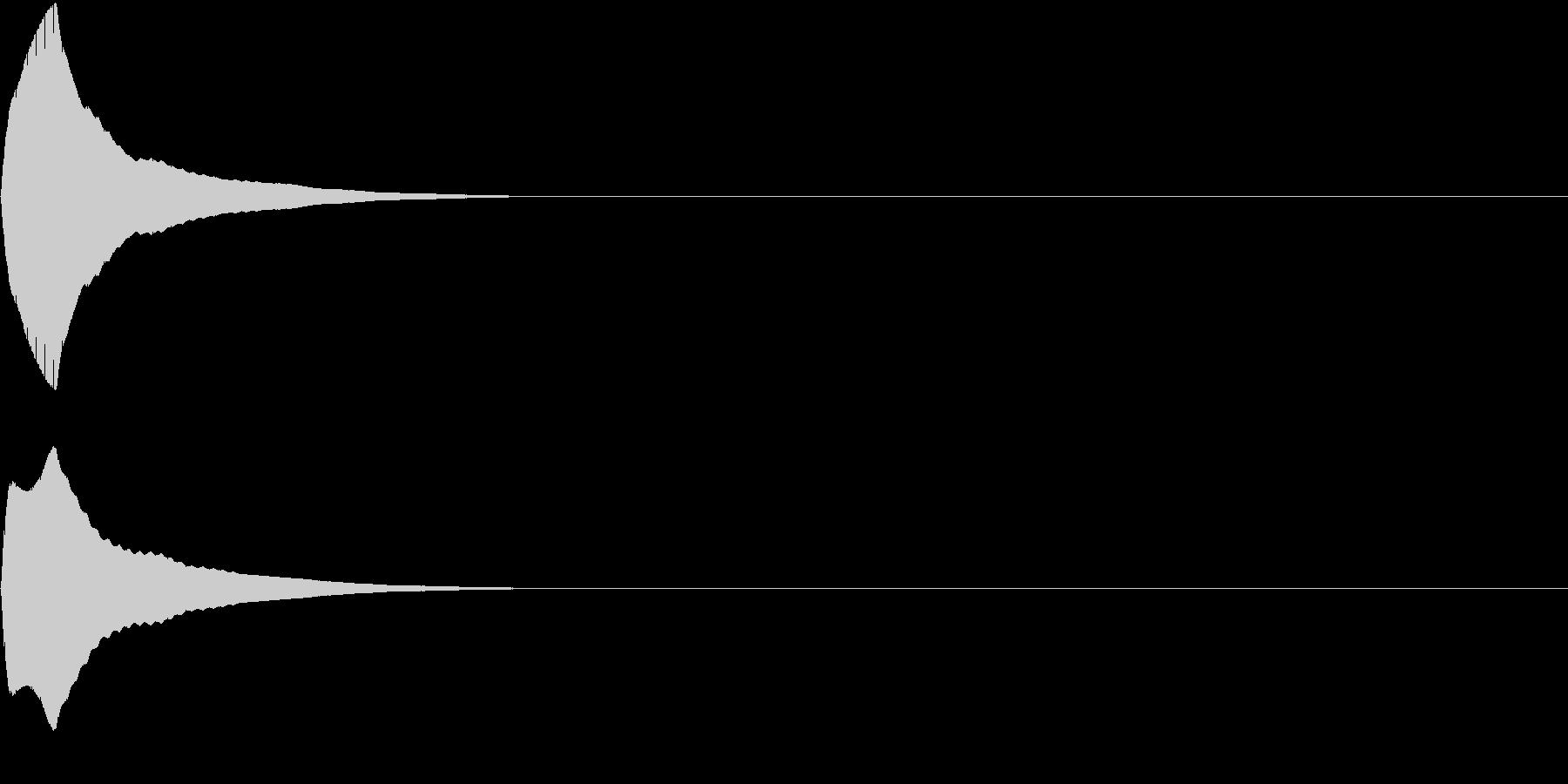 PureTouch アプリ用タッチ音33の未再生の波形