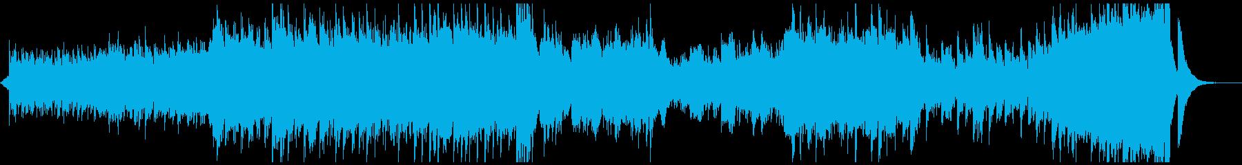 現代の交響曲で淡々とした曲の再生済みの波形