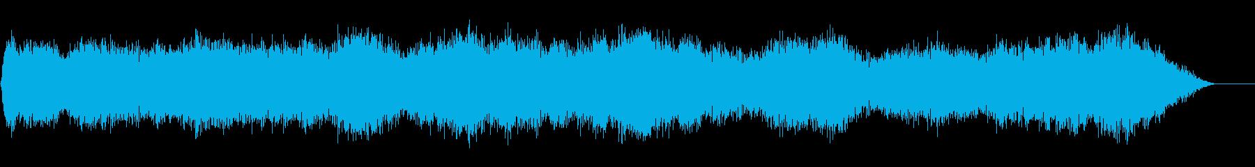 背景音 雪山などにの再生済みの波形