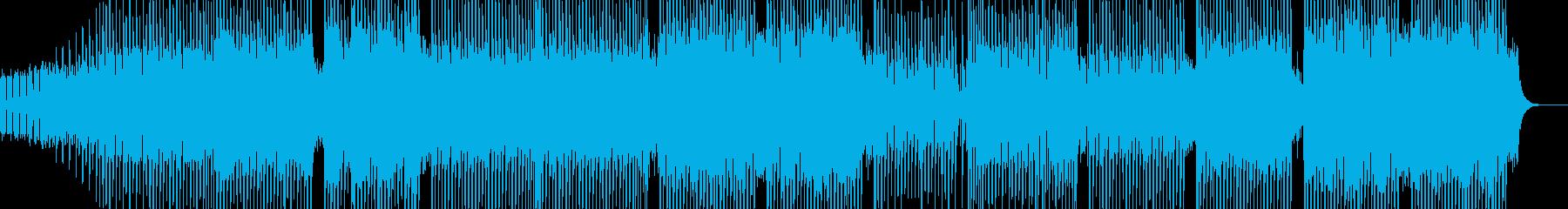 科学・浮遊感漂うテクノ 表拍リズム Aの再生済みの波形