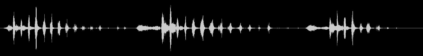 笑う男の未再生の波形