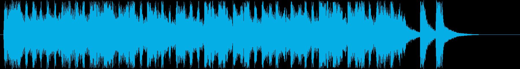 メルヘンなシンセサウンド短めの再生済みの波形