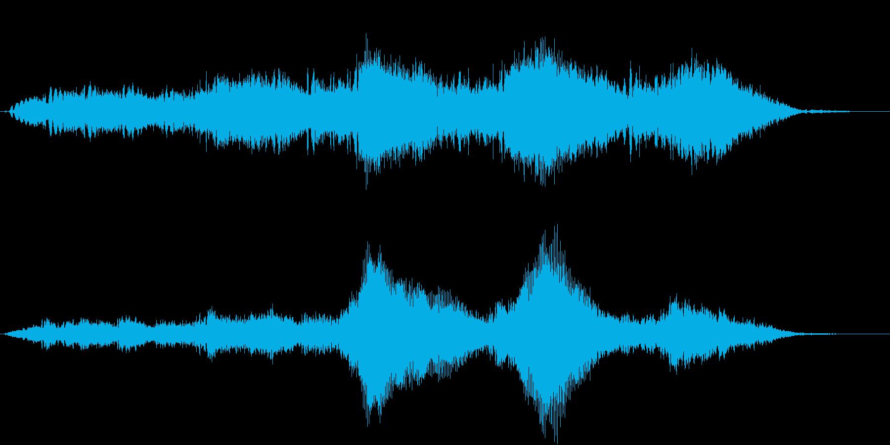 なんかやだな〜…怖いな〜… なホラーSEの再生済みの波形