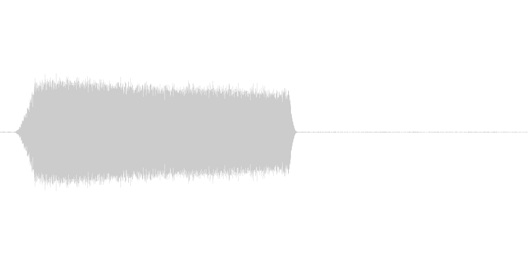 グワァァァシャー ジェット音ぽいの未再生の波形