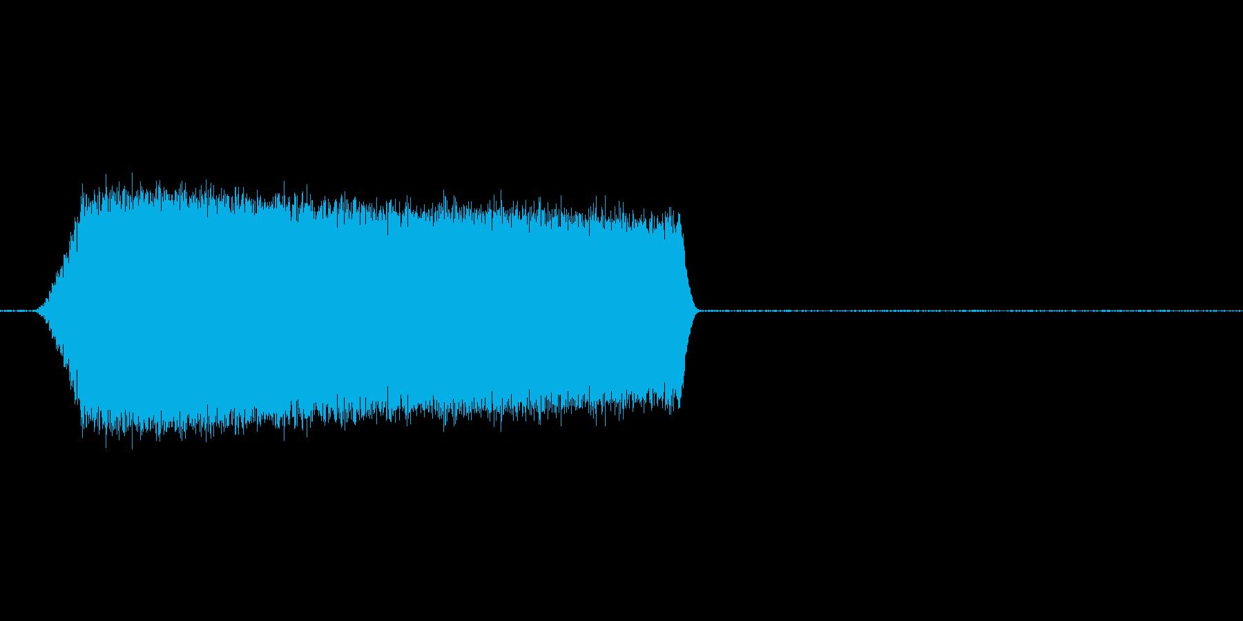グワァァァシャー ジェット音ぽいの再生済みの波形