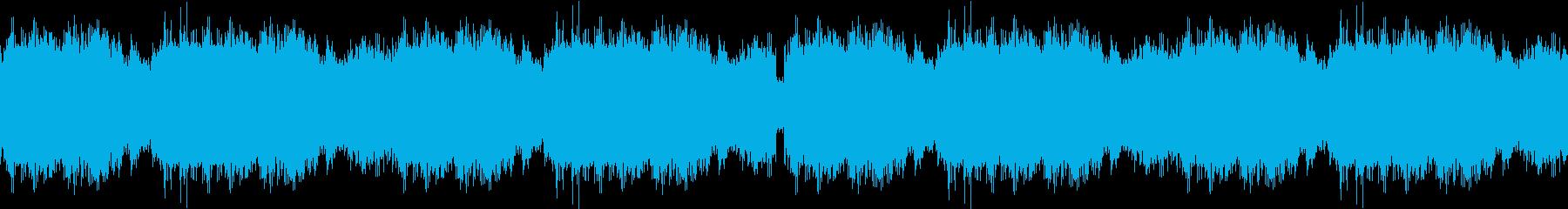 廃墟をイメージしたゲームBGM ループの再生済みの波形
