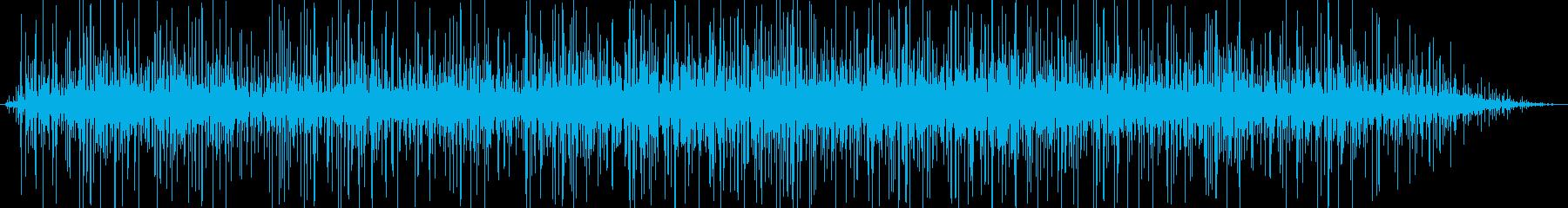 洞窟の中で雨のような水が落ちる音の再生済みの波形