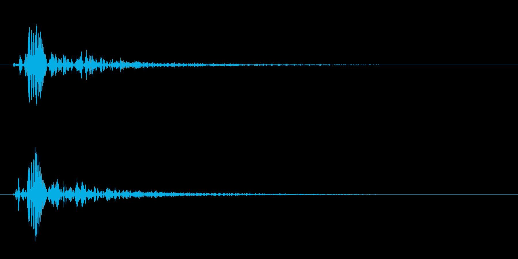 ぷにっとしたゲームのような効果音の再生済みの波形