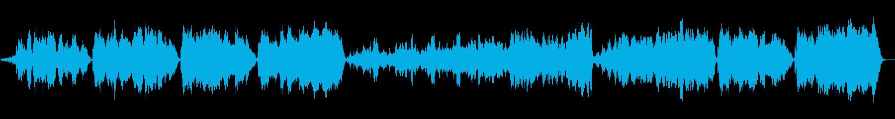 壮大で切ないオーケストラ音楽の再生済みの波形
