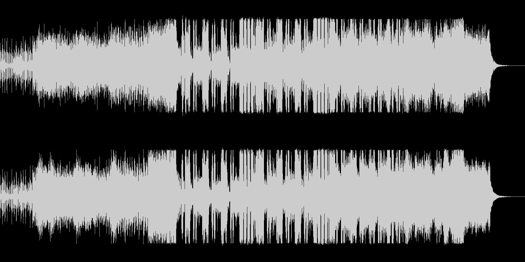 爽やかキラキラなテクノポップの未再生の波形
