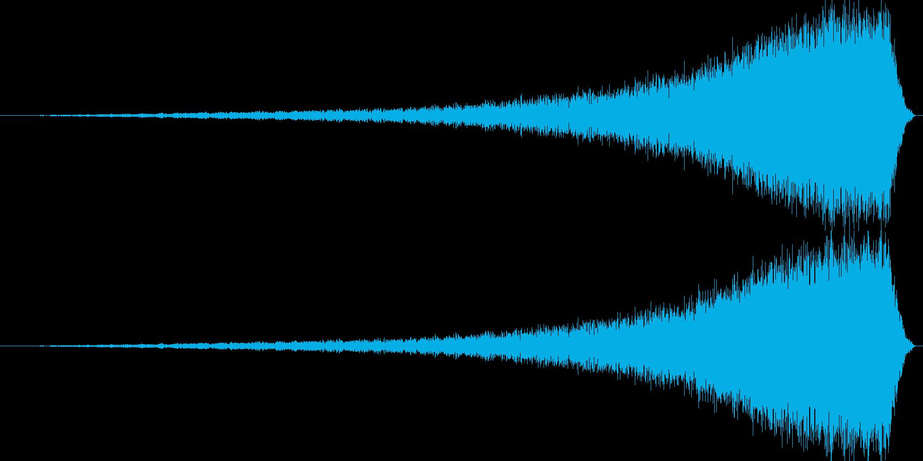 迫ってくるノイズです。の再生済みの波形