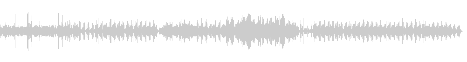 シンセがメロディを担当する可愛らしい曲の未再生の波形