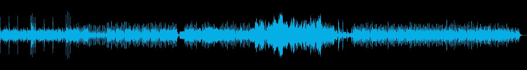 シンセがメロディを担当する可愛らしい曲の再生済みの波形
