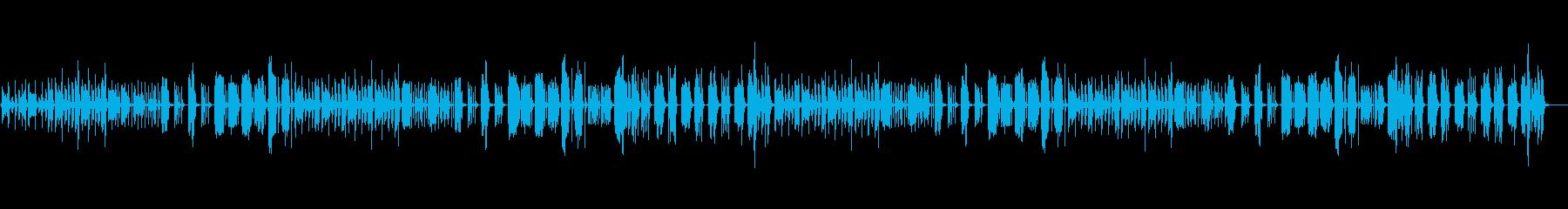 少しコミカルで、気だるい怪しい曲の再生済みの波形