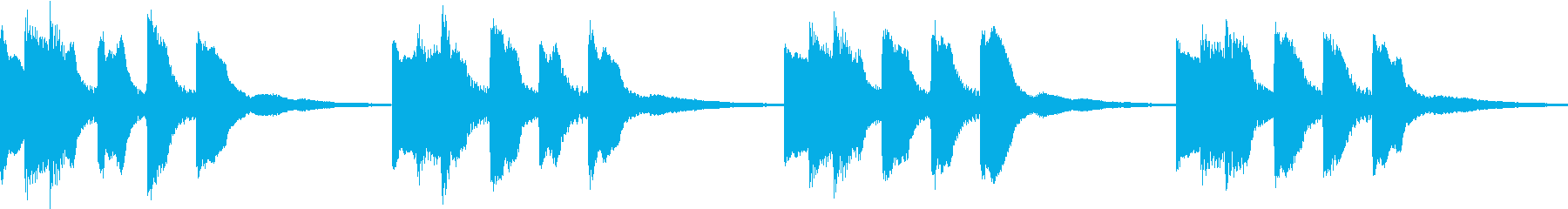 シンプル ベル 着信音 チャイム B-2の再生済みの波形