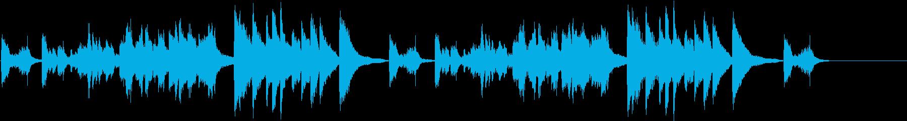 暴力的で抽象的なソロピアノの再生済みの波形