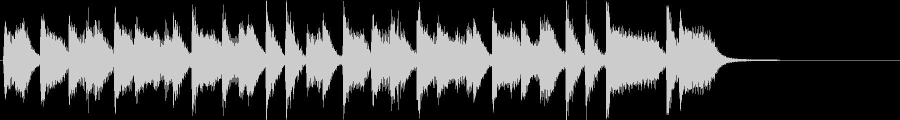 ファンキーなリズムのクールピアノジングルの未再生の波形
