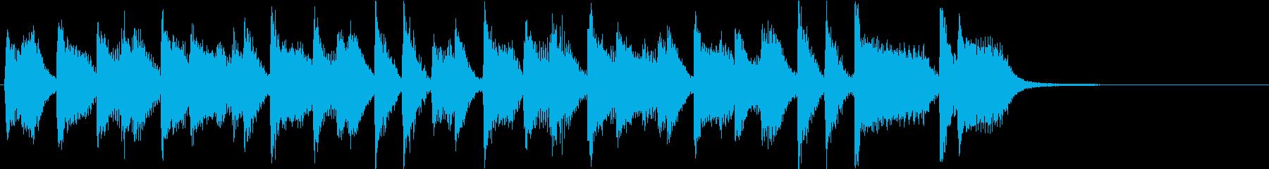 ファンキーなリズムのクールピアノジングルの再生済みの波形