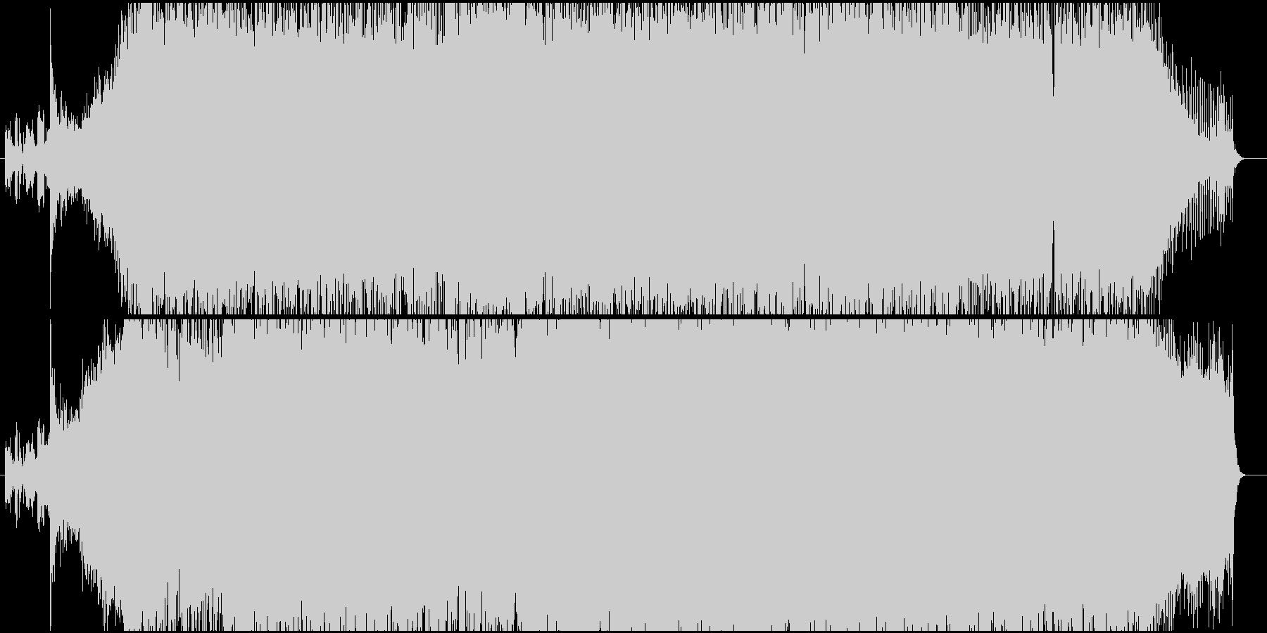激しく攻撃的なエレクトロサウンドの未再生の波形