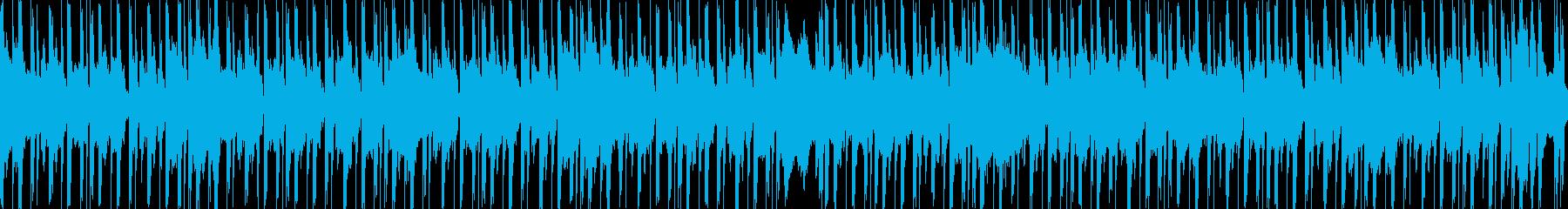可愛らしく優しいループBGMの再生済みの波形